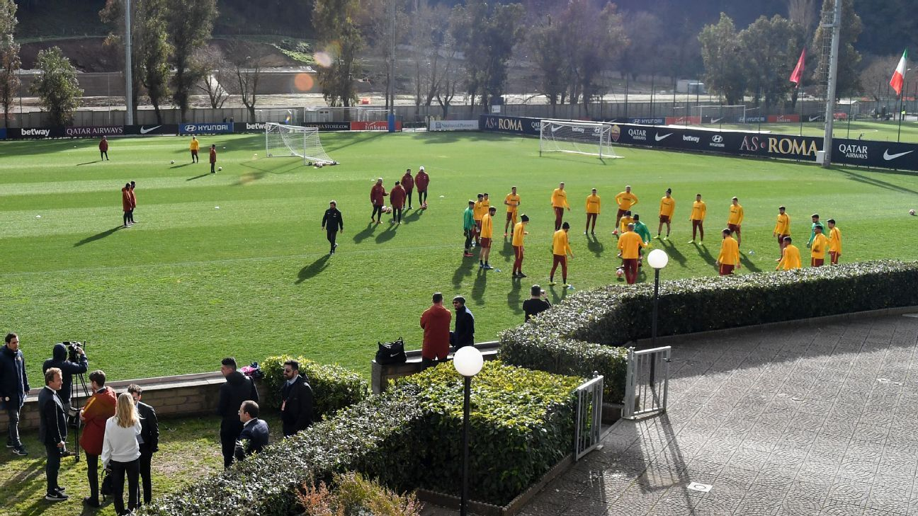 WWII bombs found at Roma's training ground