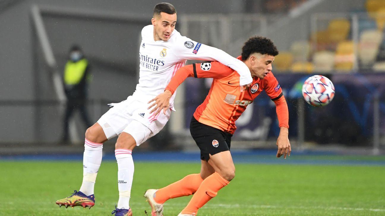 Shakhtar Donetsk vs. Real Madrid - Football Match Report - December 1, 2020 - ESPN