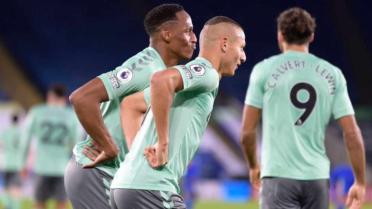 Con la solidez de Yerry Mina en defensa, Everton regresa a puestos de Europa