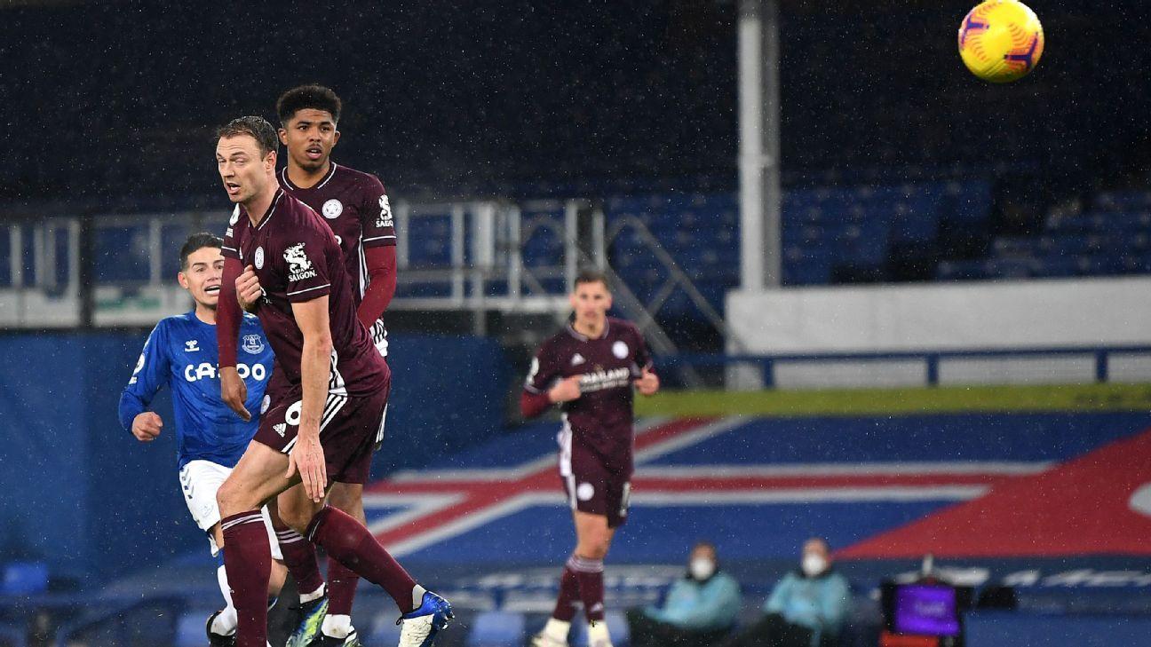 Con derecha: James marcó un golazo para abrir la cuenta de Everton ante Leicester