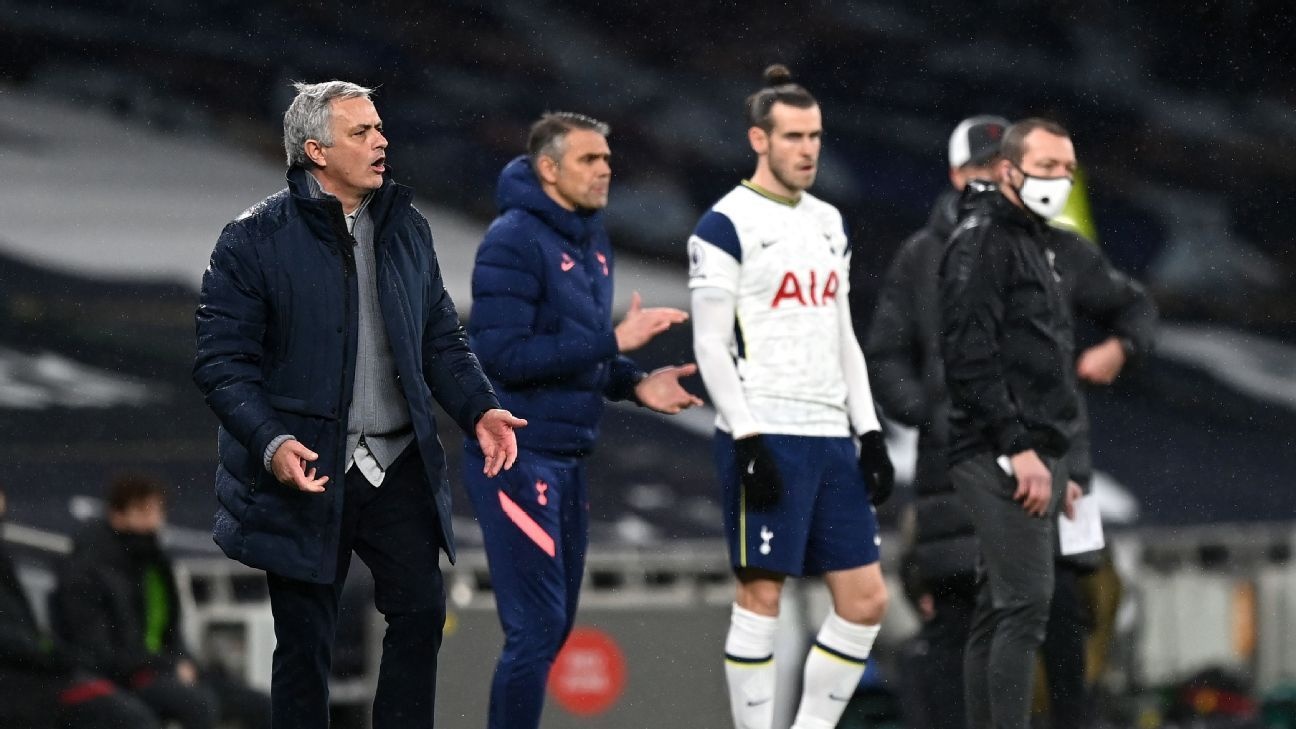Tottenham's Mourinho takes dig at Bale Instagram fitness post: 'Totally wrong' - ESPN India