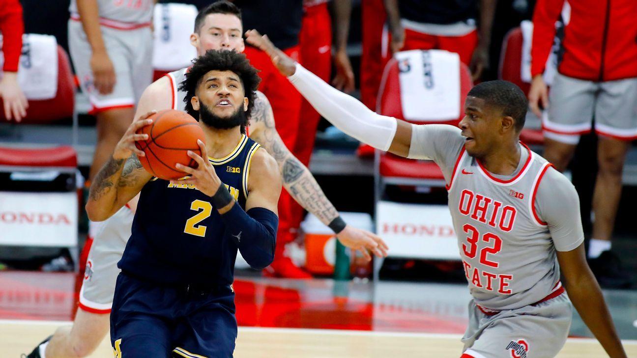 Foot injury sidelines Michigan Wolverines senior Isaiah Livers ahead of Big Ten basketball semifinal – ESPN