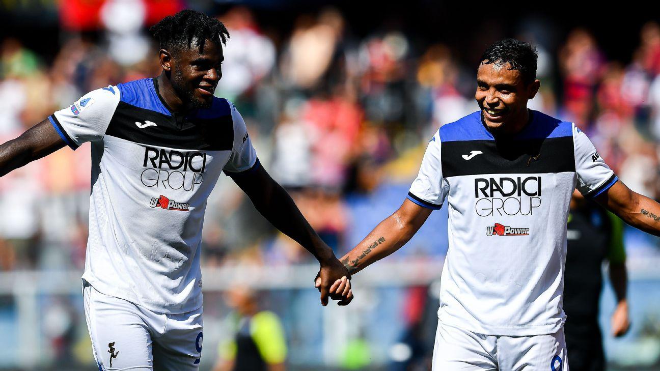 Con Muriel y Zapata, Atalanta visita a Fiorentina con la ilusión de un triunfo que le permita seguir en puestos de Champions