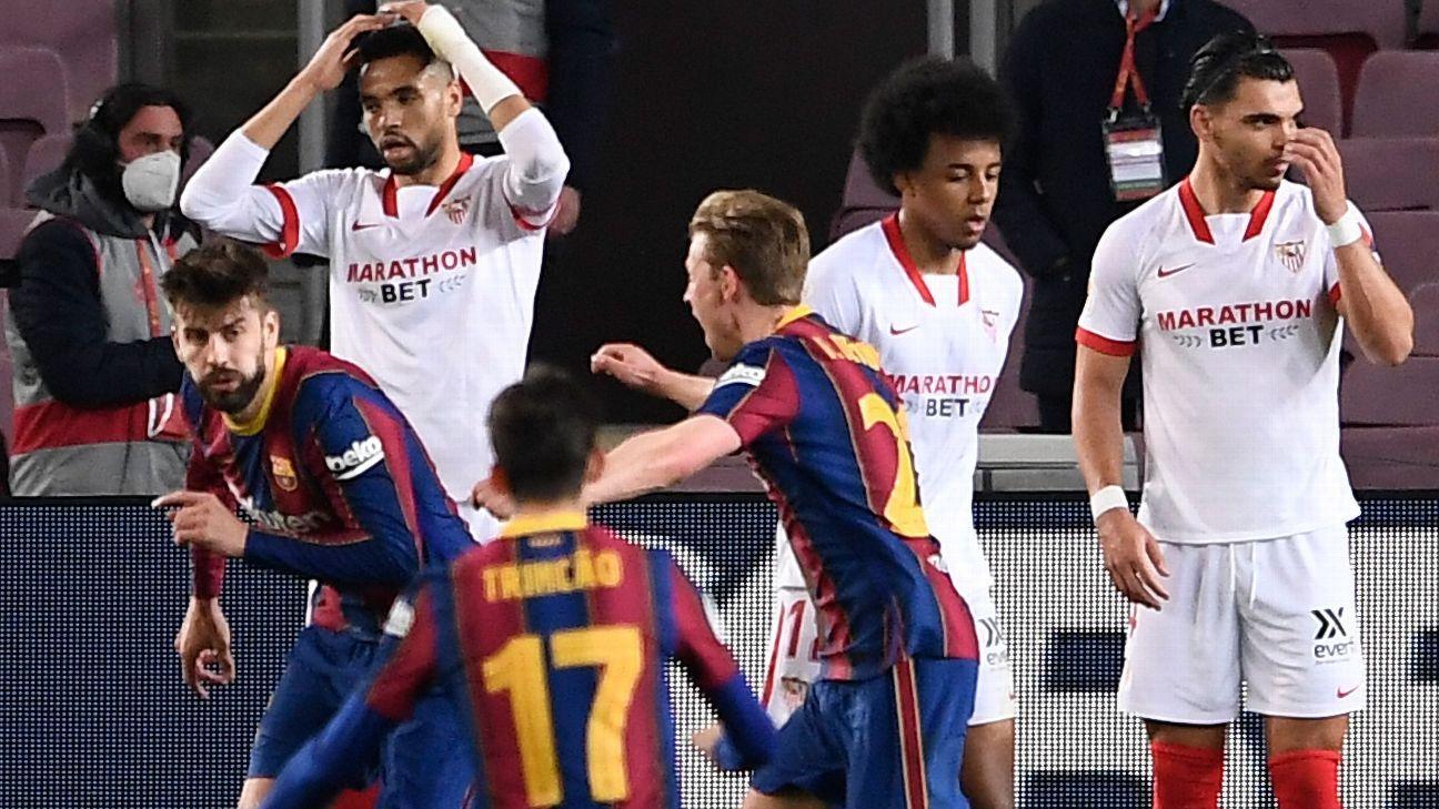 Barcelona vs. Sevilla FC - Reporte del Partido - 3 marzo, 2021 - ESPN