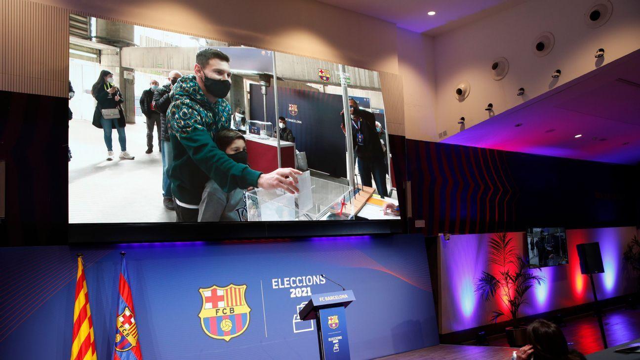 Messi vota por primera vez en las elecciones del Barcelona