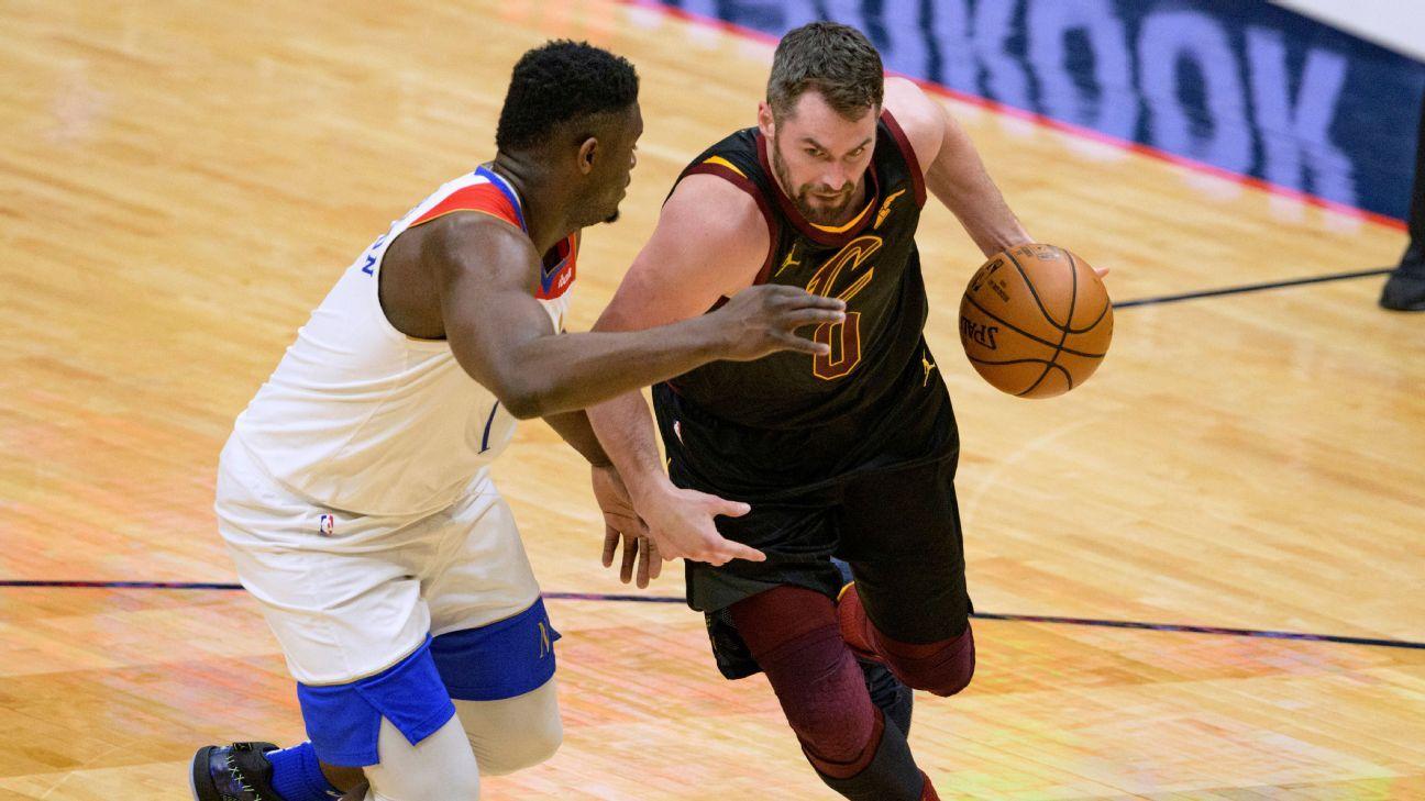 Cleveland Cavaliers forwards Kevin Love, Larry Nance Jr. back vs. New Orleans Pelicans - ESPN