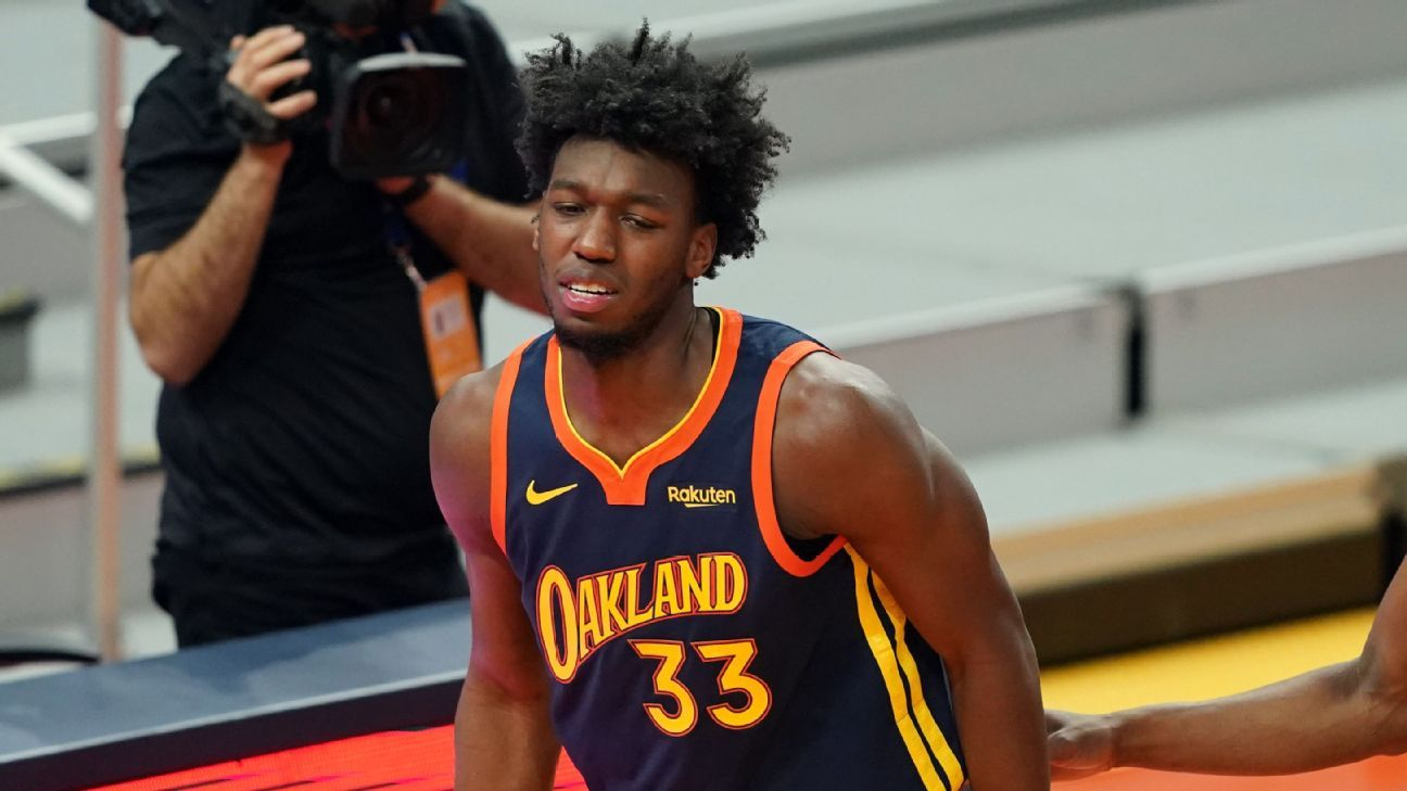 Sources — Warriors rookie James Wiseman has torn meniscus in right knee may miss rest of season – ESPN