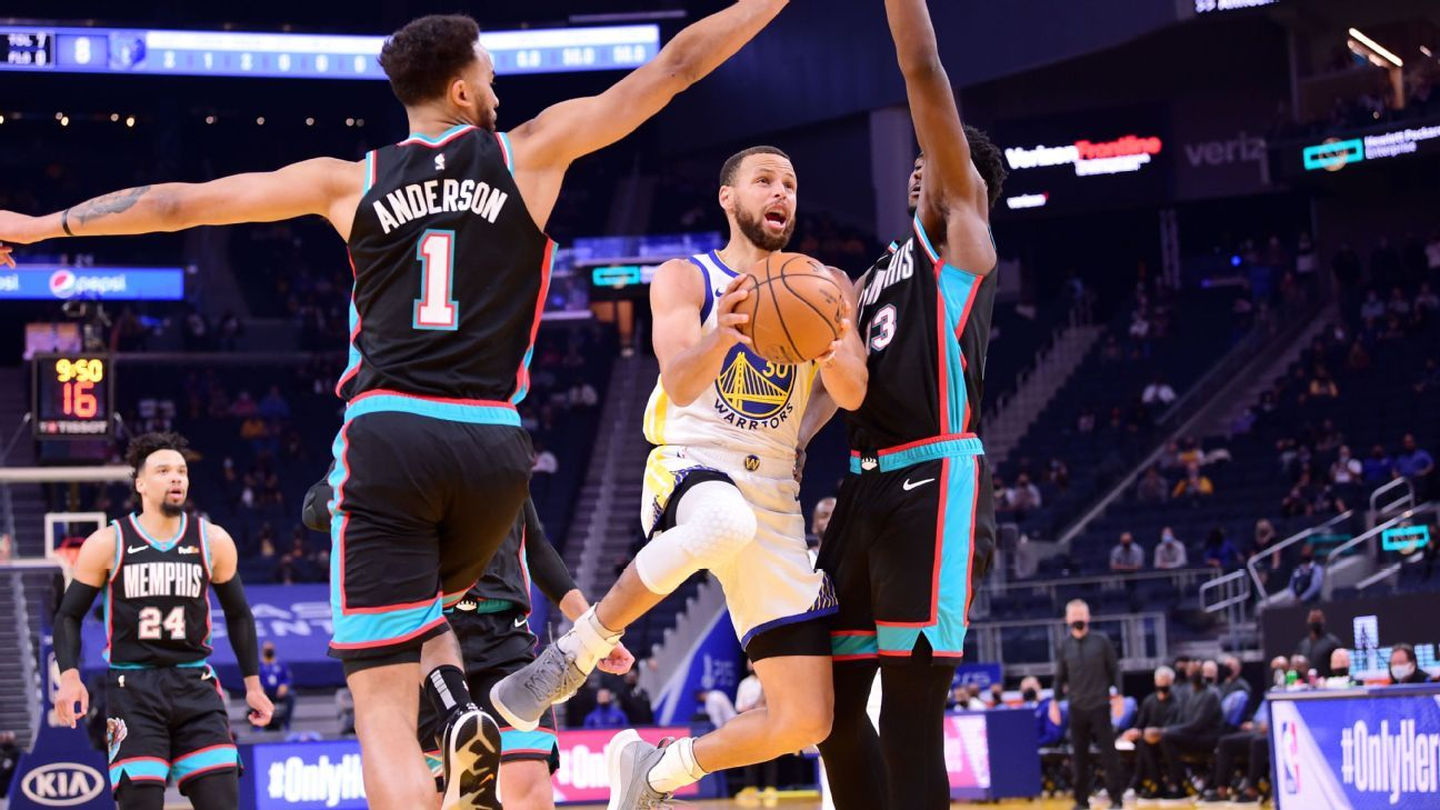 Curry claims scoring title as Dubs nab No. 8 seed