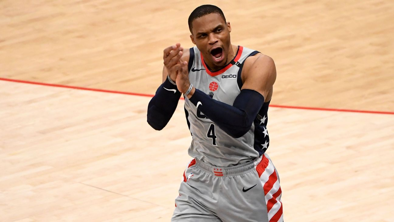 Sources -- Los Angeles Lakers nearing deal to acquire Russell Westbrook, would send 3-player package and pick to Washington Wizards