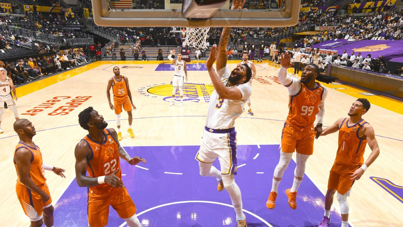 Los Angeles Lakers' Anthony Davis leaves Game 4 loss to Phoenix Suns with groin strain – ESPN