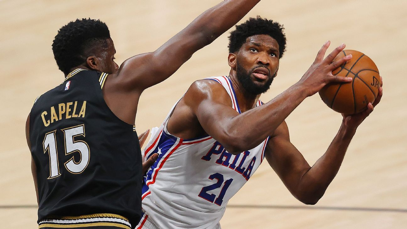 Philadelphia 76ers' Joel Embiid frustrated with officiating after win, wants it 'called both ways' - ESPN
