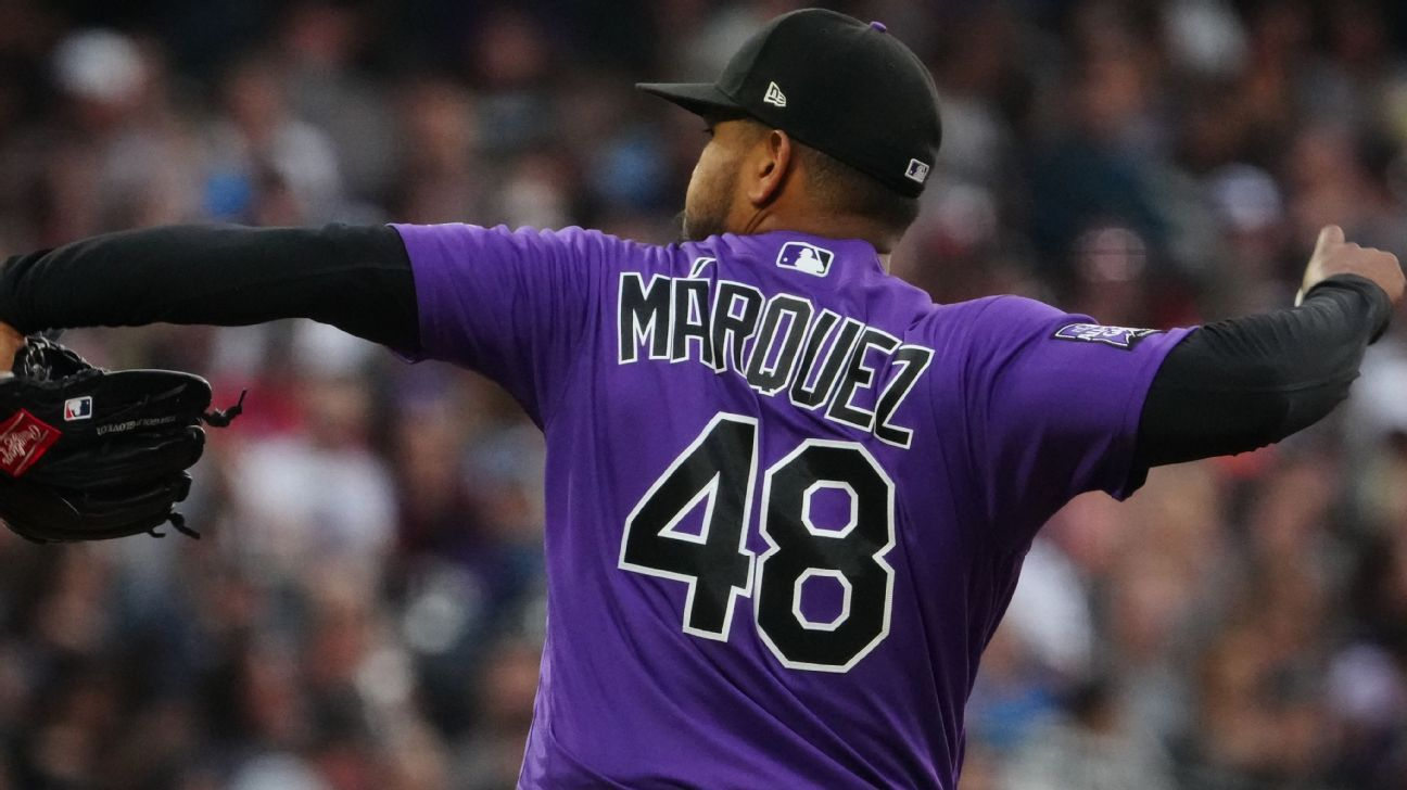 Colorado Rockies nearly add to MLB's no-hitter barrage, as German Marquez baffles Pittsburgh Pirates at Coors Field