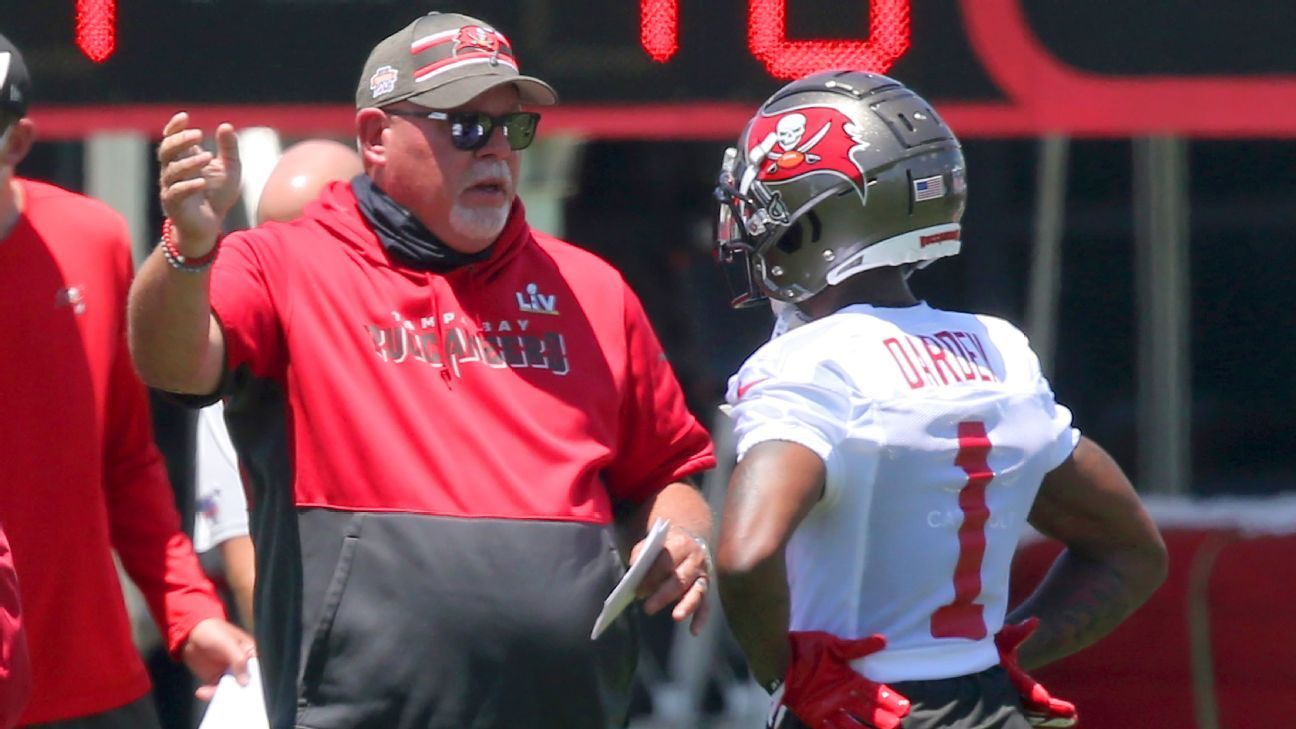 Tampa Bay coach Bruce Arians bristles at perceived criticism over Buccaneers' vaccine-identifying wristbands