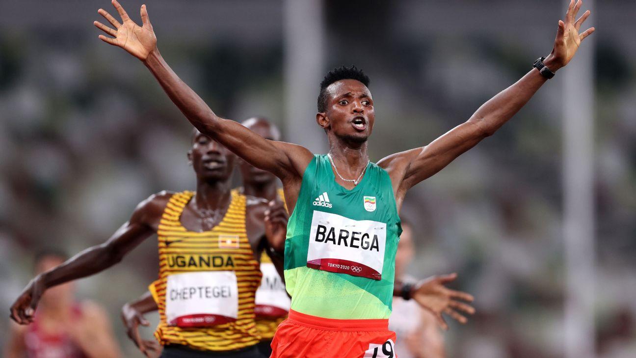 Selemon Barega wins men's 10000m in all-Africa podium