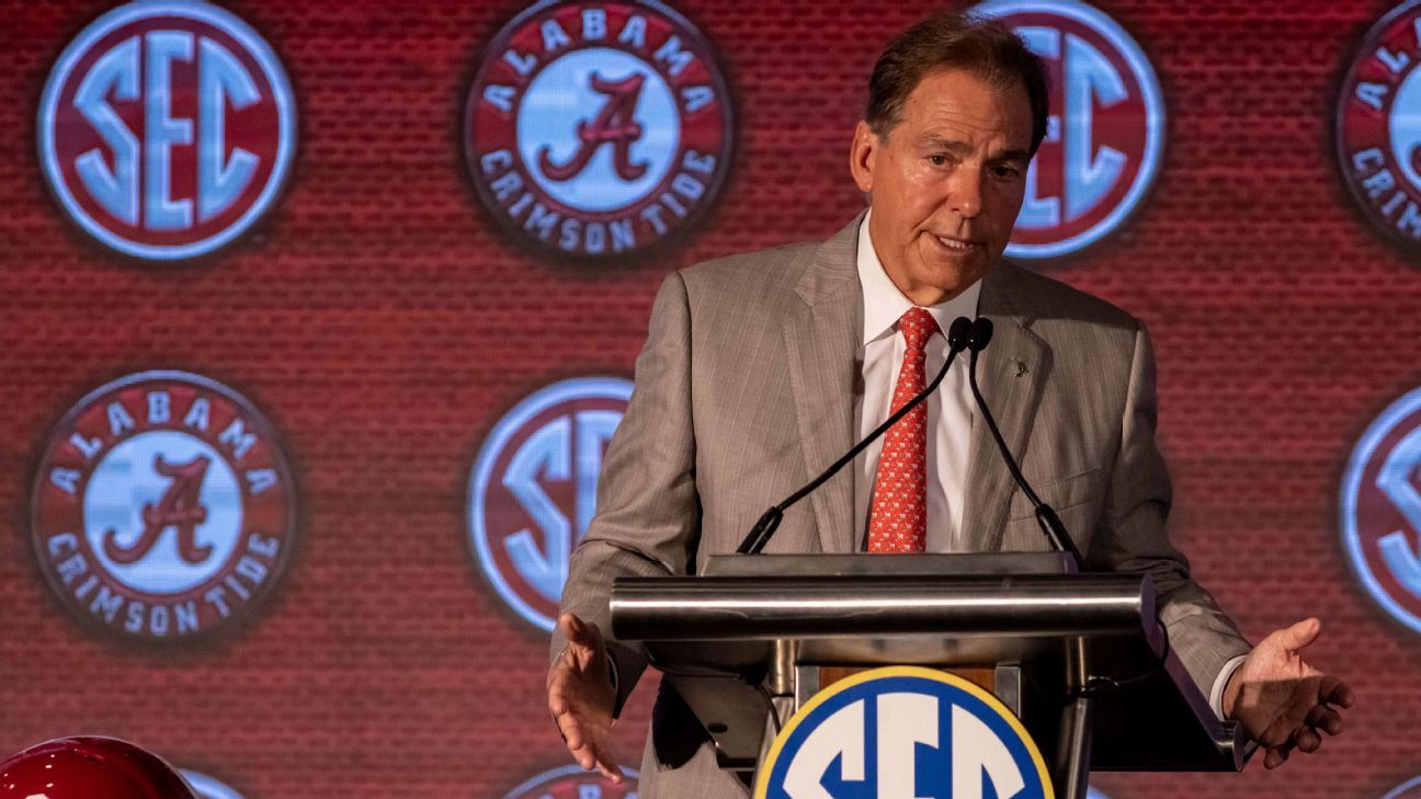 Nick Saban on the state of college football: CFP expansion, SEC realignment, NIL and more thumbnail