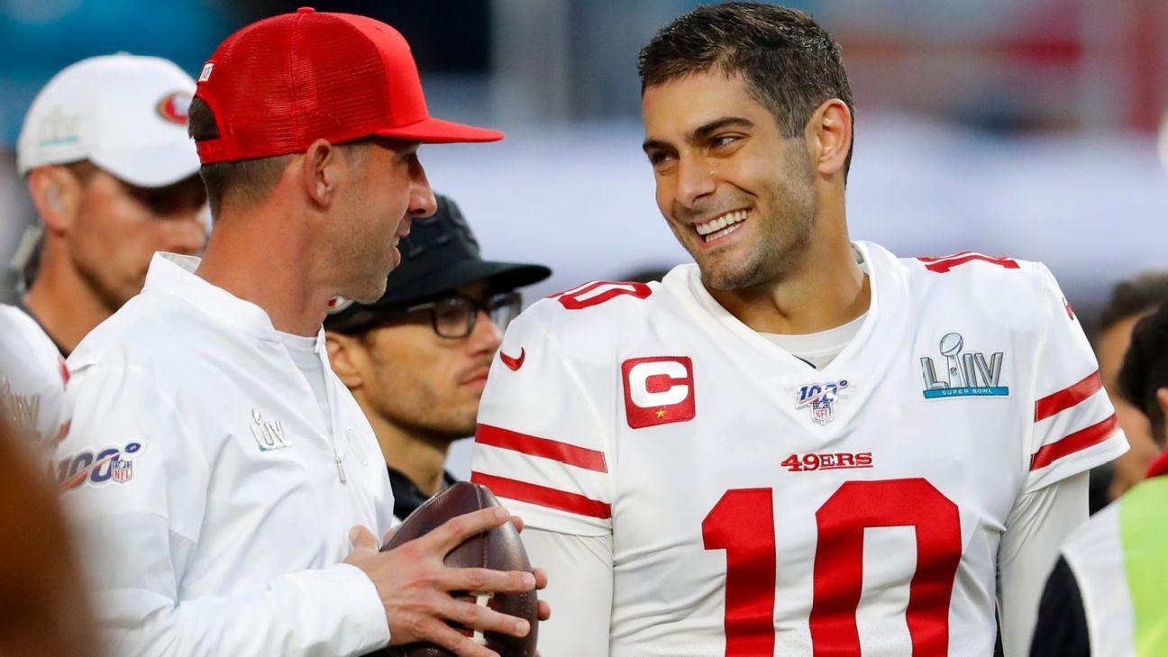 San Francisco 49ers' Kyle Shanahan not ready to announce Week 1 QB, but has 'a pretty good idea'