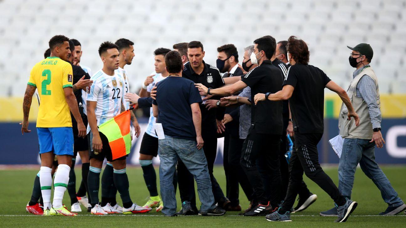 Brazil-Argentina World Cup qualifier suspended after health officials intervene – ESPN