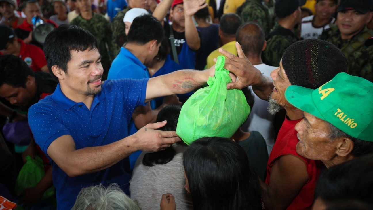 Manny Pacquiao launches bid for Philippine presidency