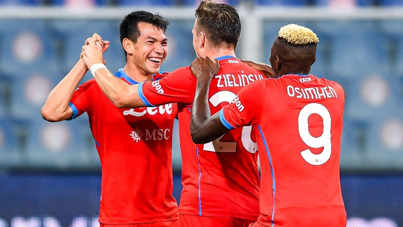 El 'Chucky' Lozano brilla con dos asistencias en la goleada del Napoli sobre la Sampdoria