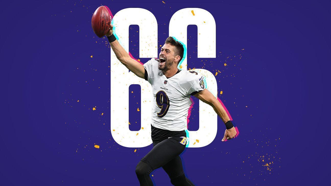 Justin Tucker convierte el gol de campo más largo en la historia de la NFL