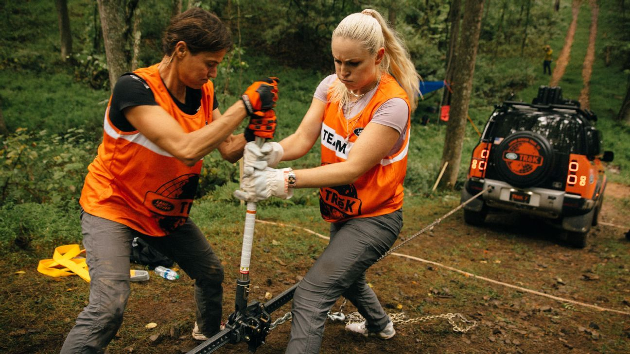 My rocky, muddy, super-competitive 24 hours with Olympic legend Lindsey Vonn
