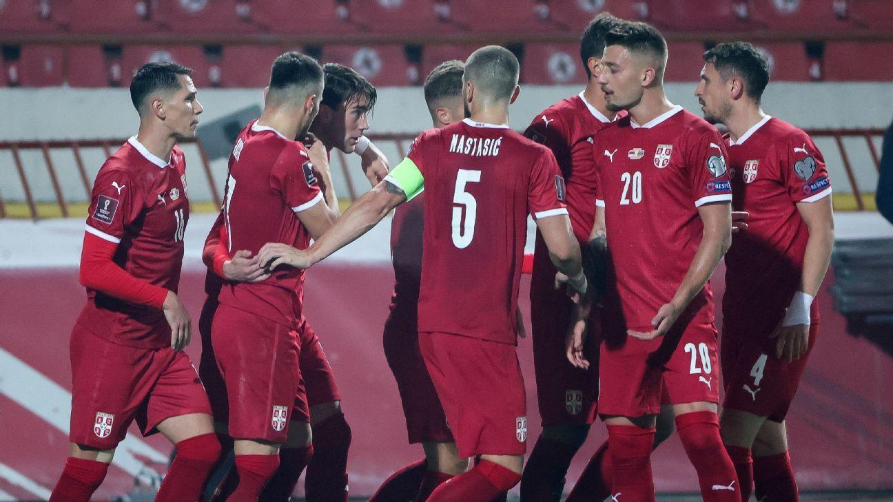 Serbia vs. Azerbaijan - Football Match Report - October 13, 2021 - ESPN
