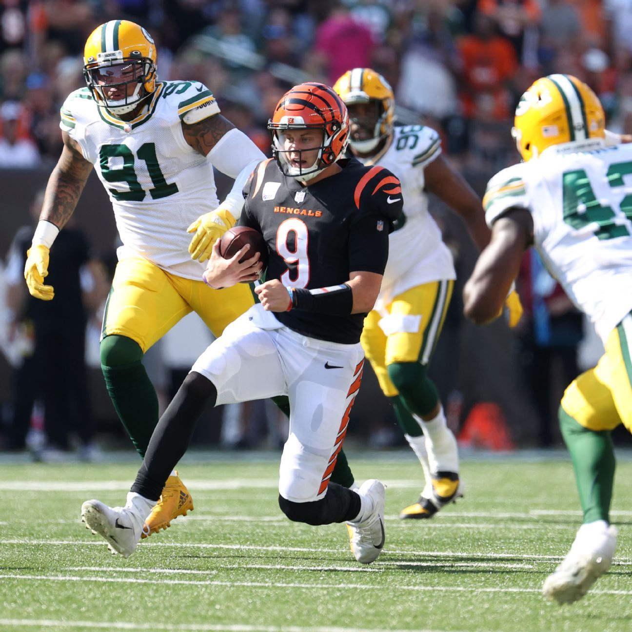 Cincinnati Bengals' QB Joe Burrow on 'voice rest' after throat contusion, expected to play against the Detroit Lions