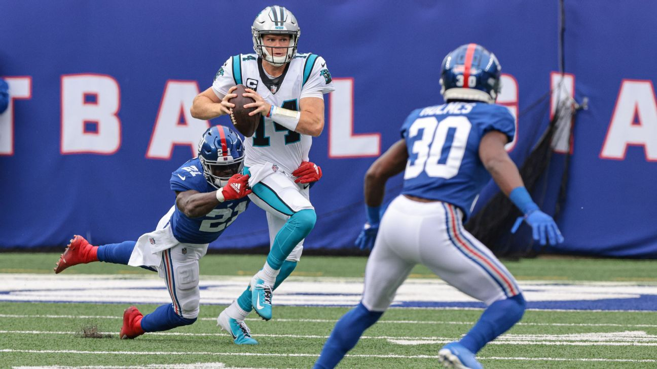 Sam Darnold benched by Carolina Panthers in MetLife return as P.J. Walker takes over