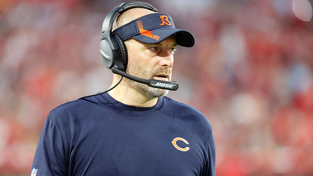 Chicago Bears coach Matt Nagy says he tested positive for COVID-19