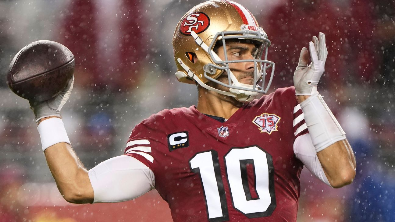 Jimmy Garoppolo remains starting quarterback for San Francisco 49ers, even after 'his worst game'