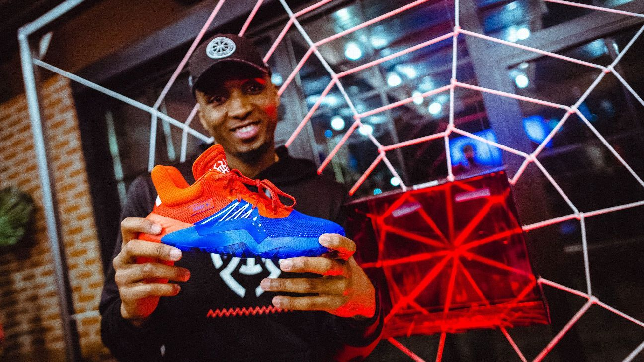 Donovan Mitchell unveils new Adidas signature sneaker