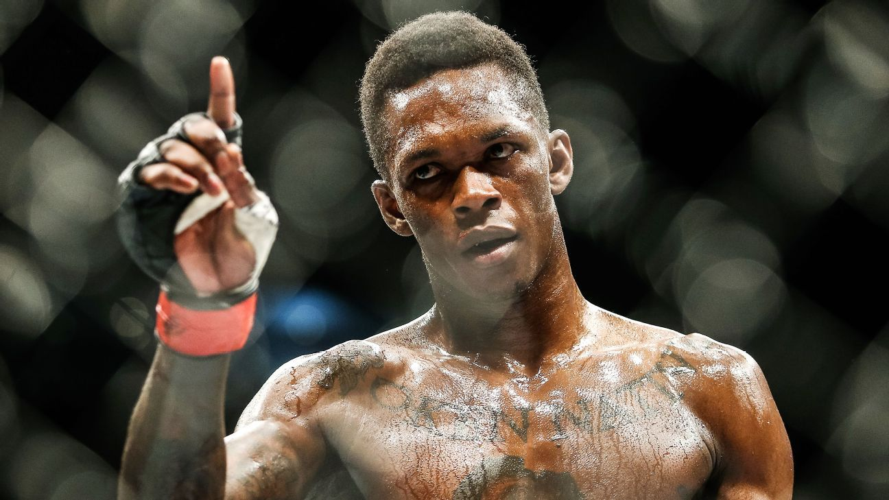 ESPNAdesanya-Gastelum for interim title at UFC 236Urijah Faber: TJ Dillashaw is a bigger fight than Henry CejudoFreire to defend belt in Bellator grand prix matchDe Randamie stops unbeaten Ladd in 16 secondsMasvidal wants either title shot or McGregor nextMousasi-Machida set for Bellator event in Sept.Ortiz to face ex-WWE champ Del Rio in MMA fightSources: Swanson-Gracie bout being finalizedMendes says he's retired: 'Just that time for me'Hall of Famer Urijah Faber earns quickest KO in return fightWhat we learned at PFL 4PFL 4: Playoff format fuels deluge of first-round finishesFighters break down optimal strategies to secure spots in PFL playoffsInside Jorge Masvidal's epic flying knee knockout at UFC 239Can anyone bump Jones, Nunes from pound-for-pound No. 1 spots?Several new faces pop up, make moves in the divisional rankingsAmanda Nunes on defending her titles, earning her rep and posing for the Body IssueIsrael Adesanya to face Kelvin Gastelum for interim middleweight belt at UFC 236ABOUT COOKIES