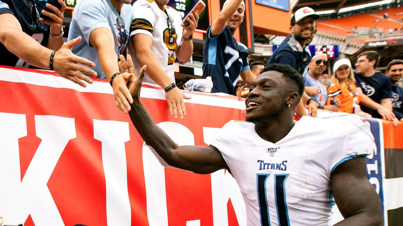 Julio Jones declines to take No. 11 from Tennessee Titans' A.J. Brown, will put on No. 2