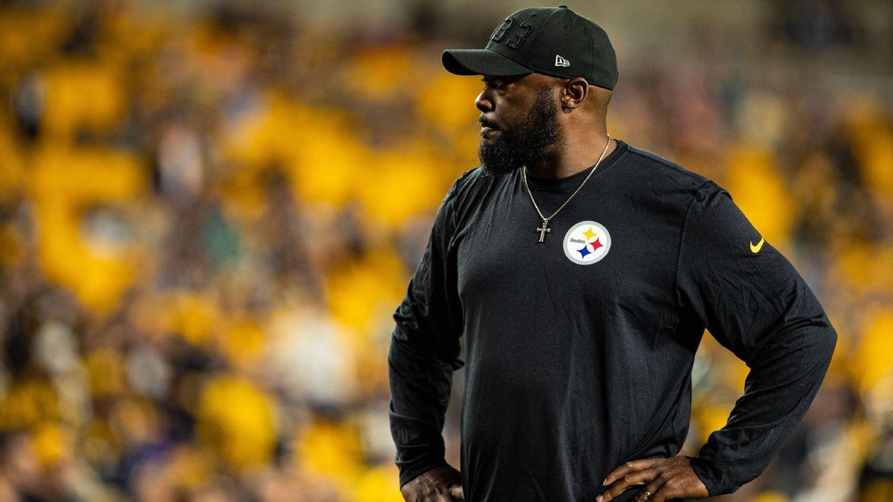 <div>Tomlin, Big Ben: Steelers won't hit 'panic button'</div>