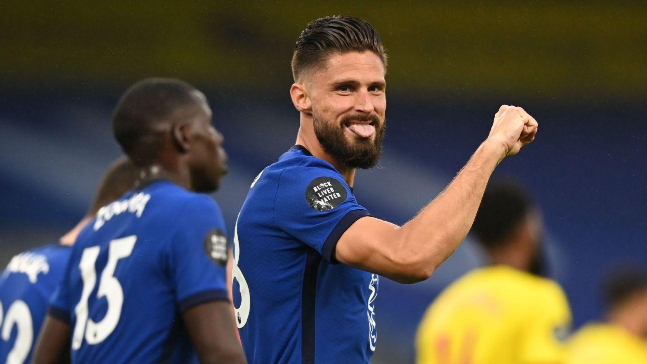 Giroud nắm bắt cơ hội để dẫn dắt đội hình của Chelsea trong chế độ nhân tài của Lampard.  Áp-ra-ham sẽ trả lời?