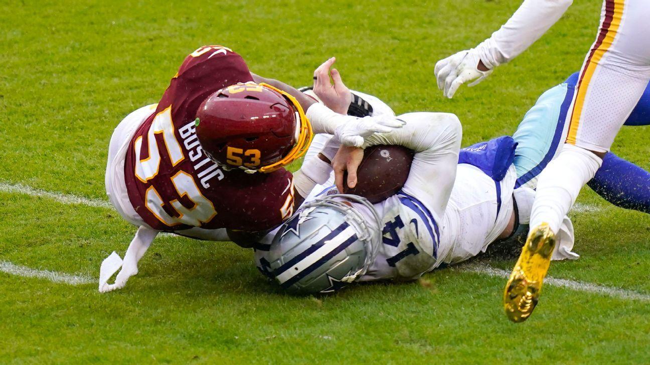 Jon Bostic của Washington dự kiến sẽ không bị đình chỉ vì đánh Andy Dalton của Dallas Cowboys, nguồn tin cho biết
