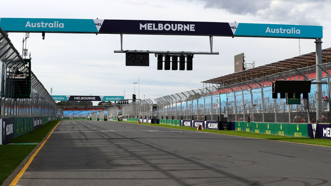 The look of Albert Park will be changed before the Australian Grand Prix