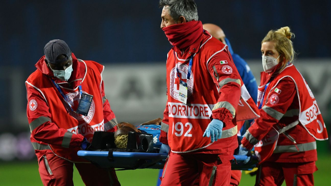 """Napoli's Osimhen """"lost consciousness for 30 minutes"""", says the incident """"felt like a brain reset"""""""