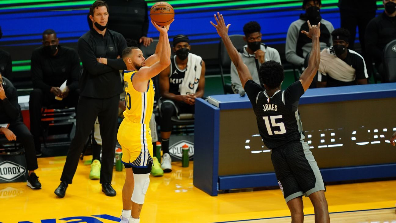 Curry sets NBA record for 3s in a month with 85